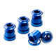 Reverse Chainring Bolt Set dark blue